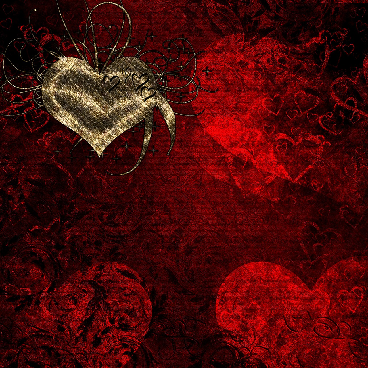 gothic heart pictures - HD 1280×1280